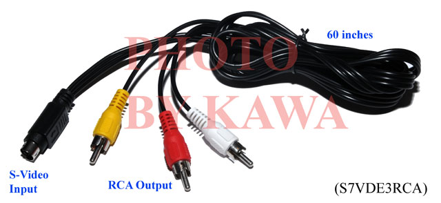 5x S7VDE3RCA 7 PIN S VIDEO To 3 RCA Cable TV For ACER Dell LAPTOP