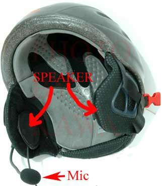 1X MEBMIFTEL Full Helmet Headset Mic for Motorola GP300 HT1250 XTN series