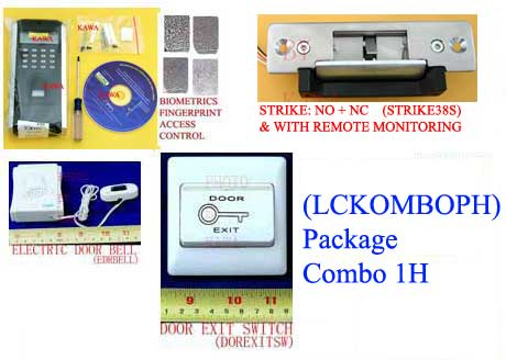 1x lckomboph fingerprint door access attendance control with